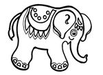 coloriage Elephants