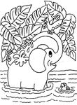 coloriage enfant Elephants