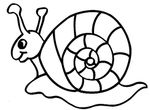 coloriage enfant Escargots