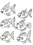 coloriage Poissons