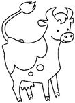 coloriage Vaches