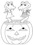 coloriage enfant Halloween