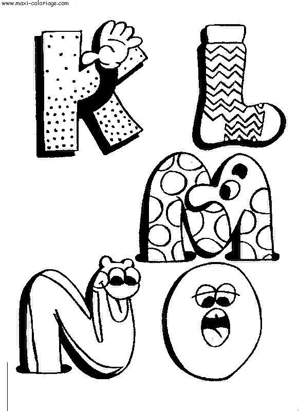 Coloriage alphabet rigolos dessin alphabet rigolos - Maxi coloriage ...