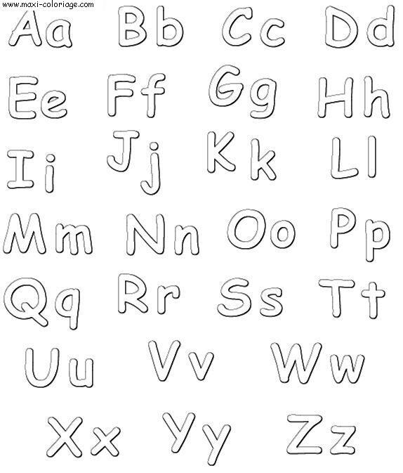 coloriage Alphabet Simple