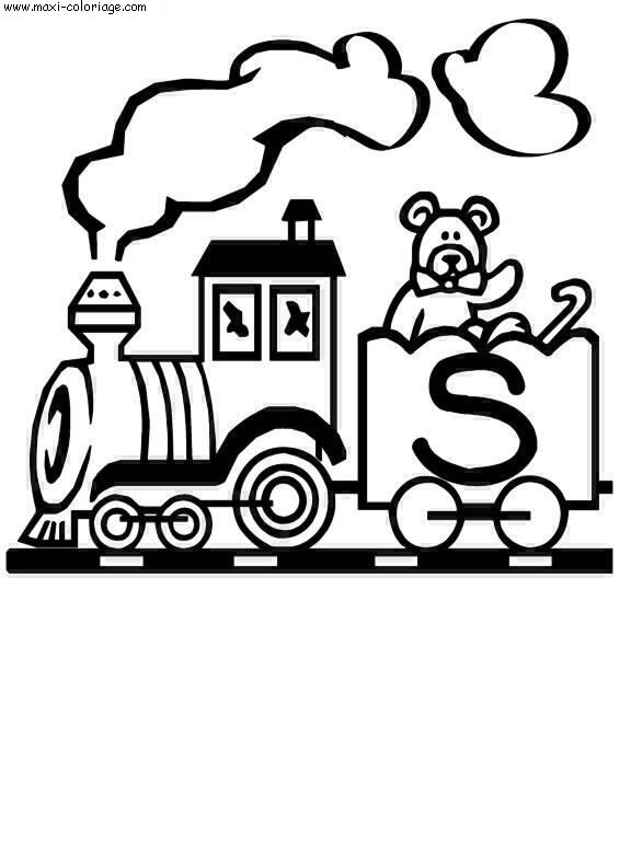 coloriage Alphabet Trains