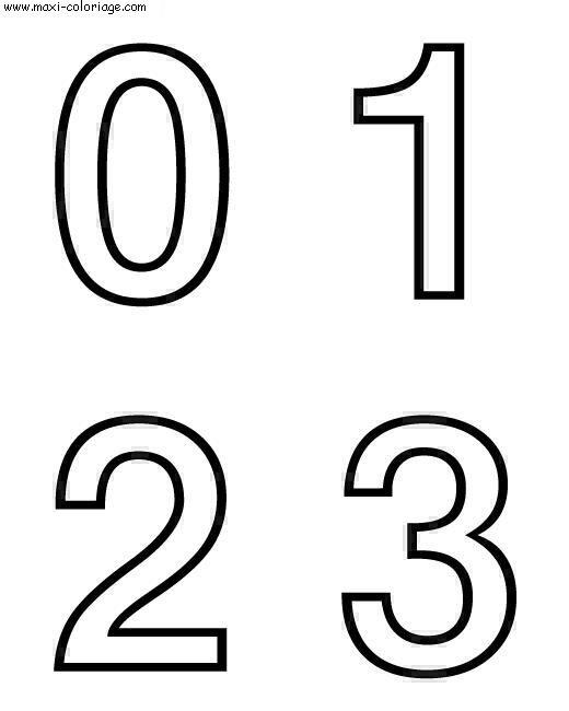 Coloriage de chiffre au enfant - Chiffre a imprimer gratuit ...