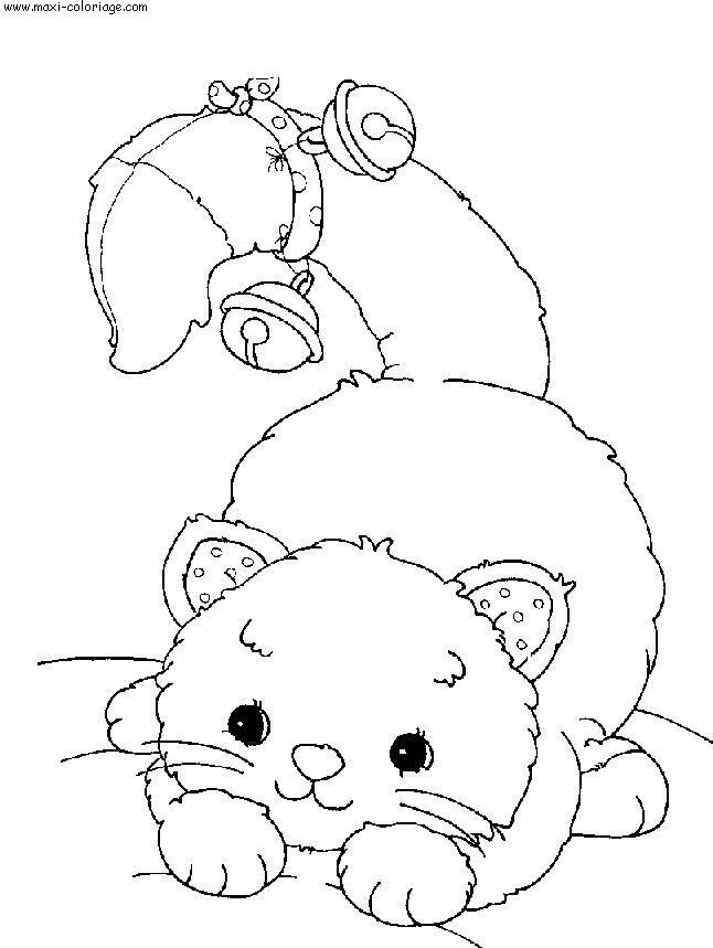 Coloriages chats le blog de tigresse - Maxi coloriage ...