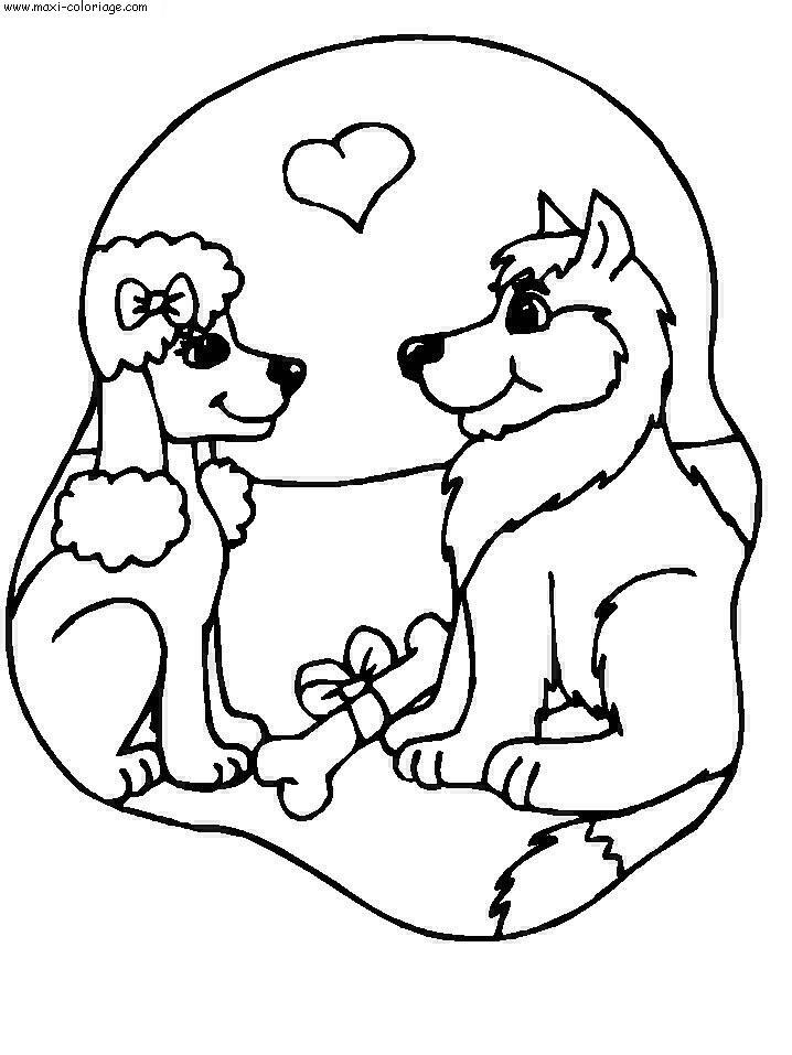 Dessin de chien mignon a colorier et a imprimer - Image de chien dessin ...