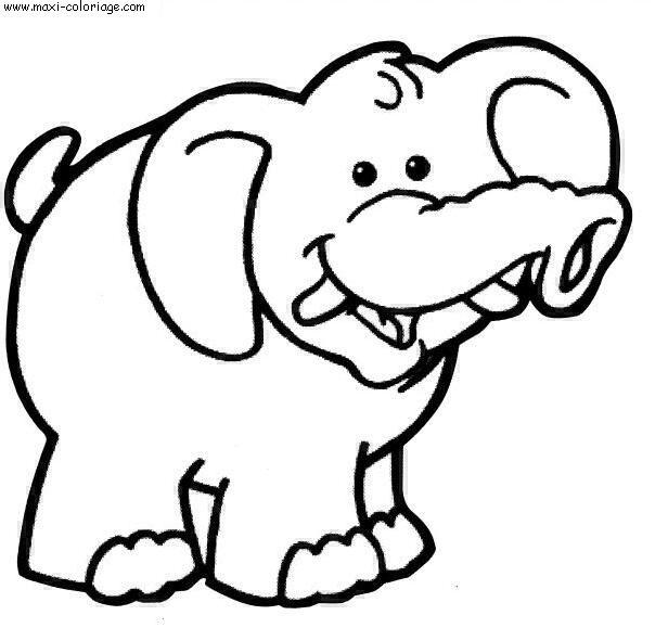 coloriage Elephants