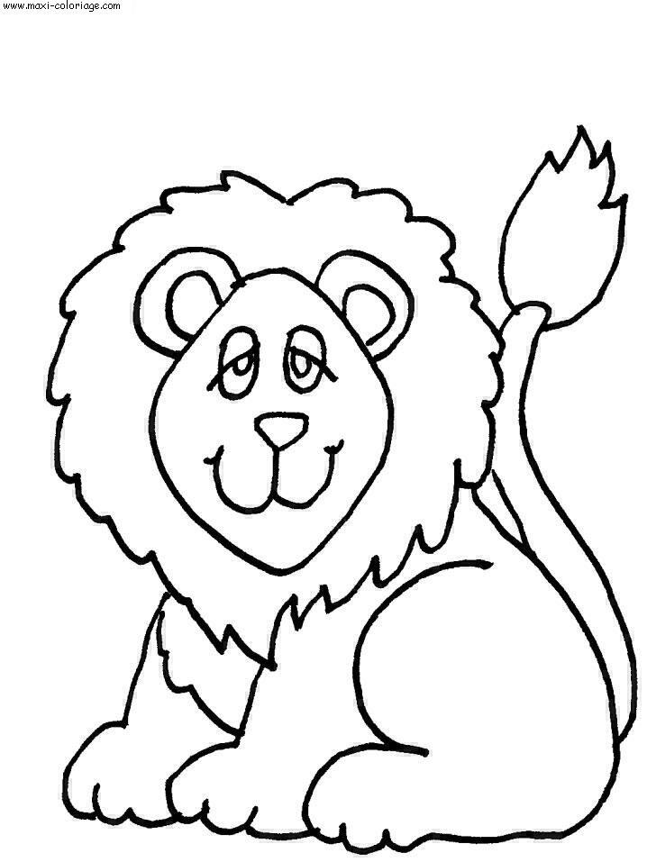 coloriage Lions