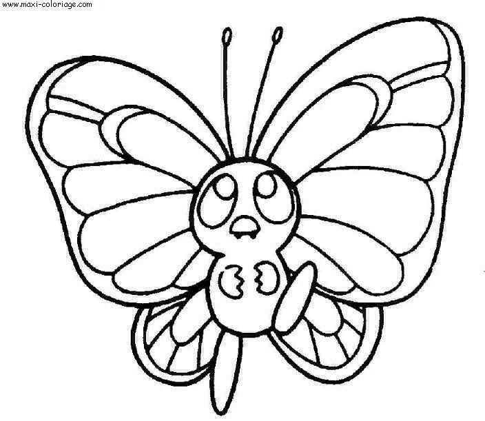 Dessin facile de papillon - Coloriage de papillon ...
