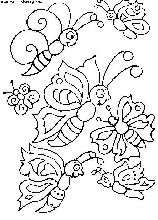coloriage Papillons