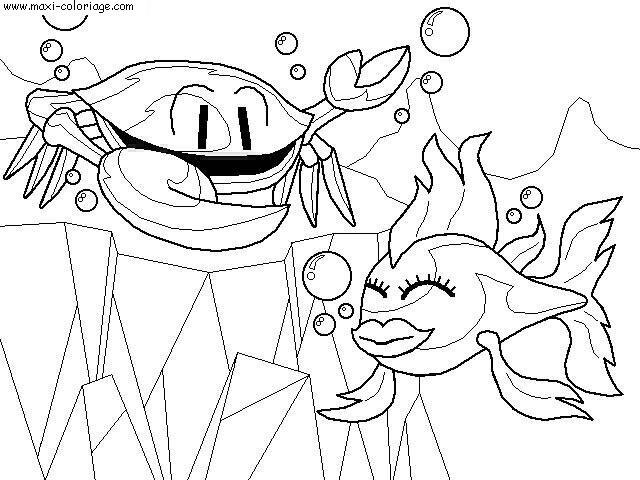 Coloriage poissons dessin poissons poissons coloriage n 4616 - Maxi coloriage ...