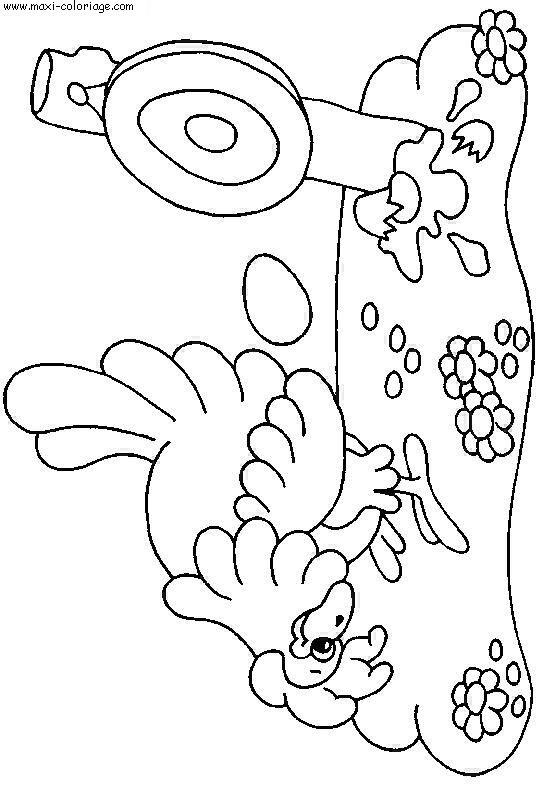 coloriage Poules
