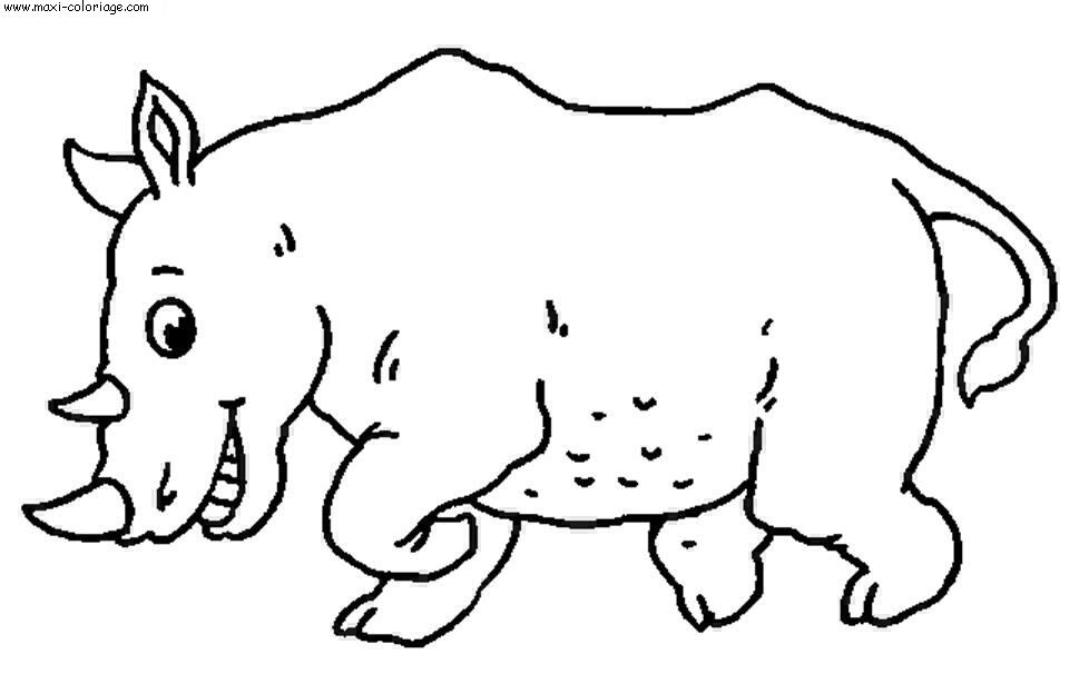 coloriage Rhinoceros