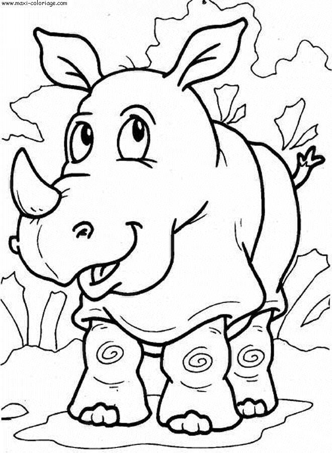 coloriage Rhinoceros