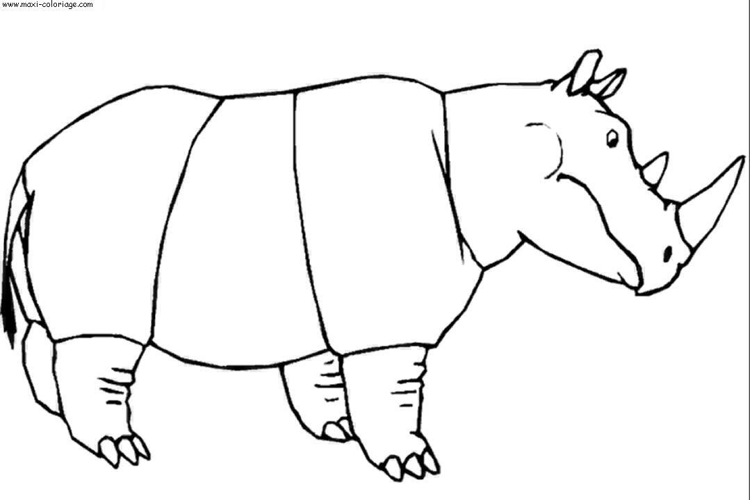 Coloriage rhinoceros dessin rhinoceros rhinoceros - Rhinoceros dessin ...