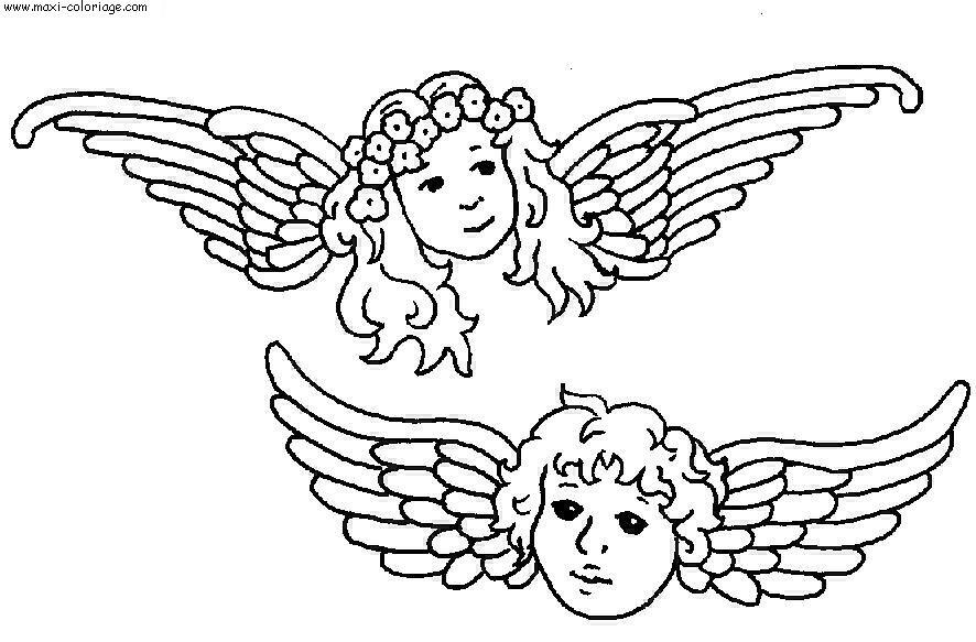 Coloriage Coin De Peinture: Ange Demon Dessin