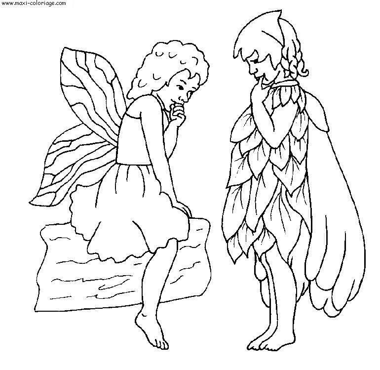 Coloriage elfes dessin elfes elfes coloriage n 5887 - Maxi coloriage ...