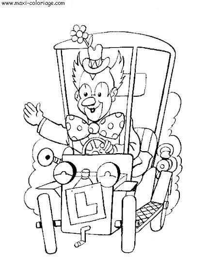 Coloriage enfant cirque dessin enfant cirque cirque - Maxi coloriage ...