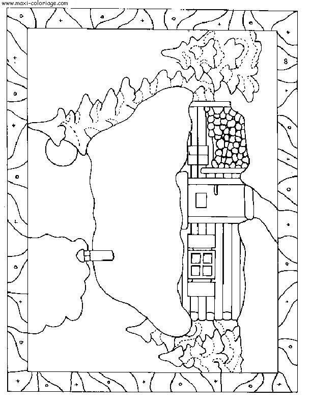 Coloriage maisons dessin maisons maisons coloriage n 5523 - Maxi coloriage ...