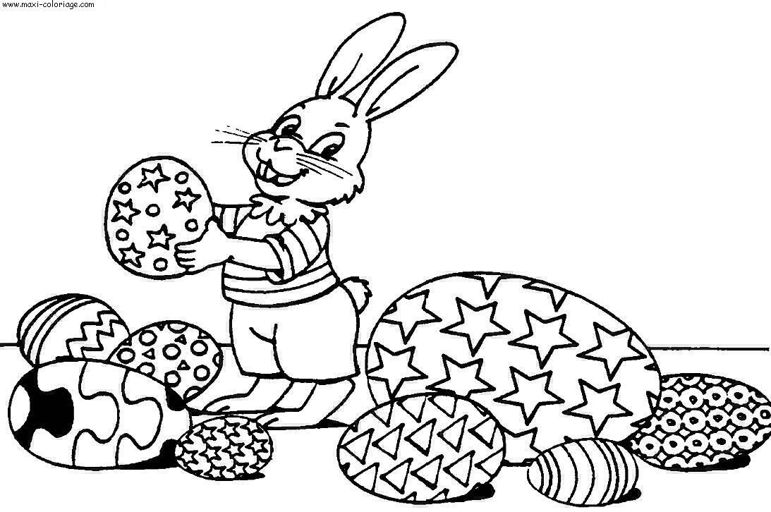 Coloriage paques dessin paques paques coloriage n 6390 - Maxi coloriage ...
