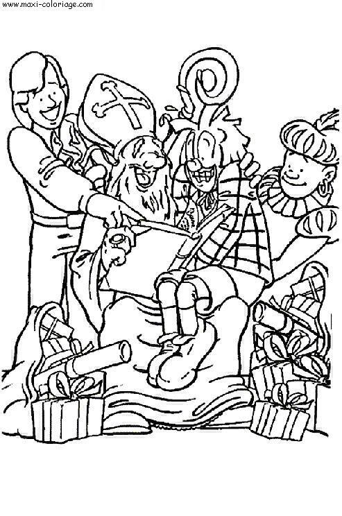 Coloriage saint nicolas dessin saint nicolas saint - Maxi coloriage ...