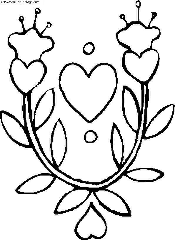 Coloriage Fleurs Dessin Fleurs Fleurs Coloriage N 5377