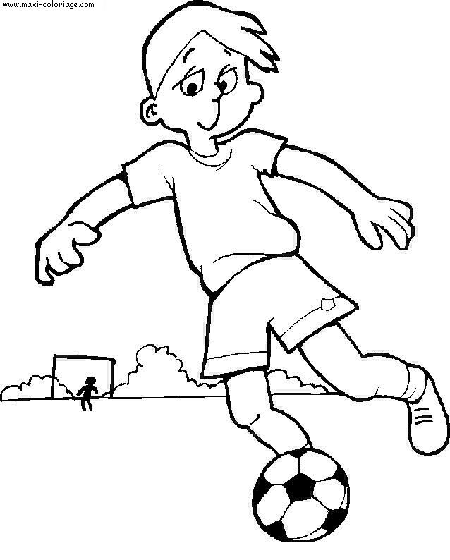 Jouer de foot - Maxi coloriage ...