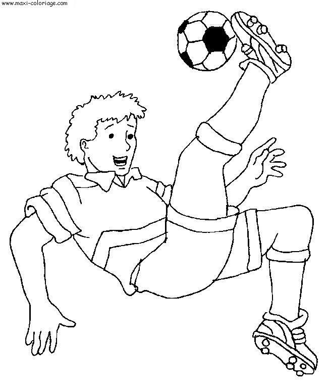 Coloriage football dessin football football coloriage n 5390 - Maxi coloriage ...