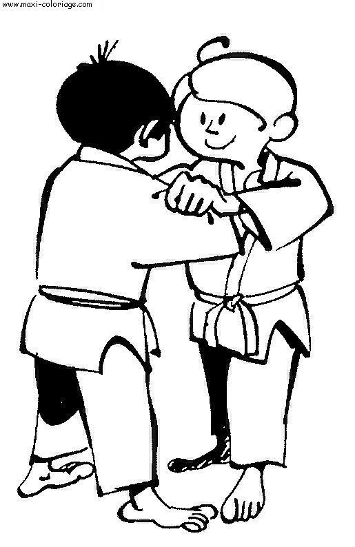 comment dessiner un judoka