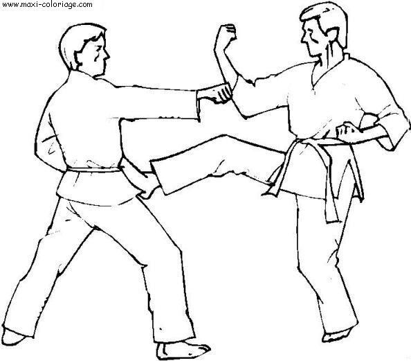 Coloriage judo dessin judo judo coloriage n 5491 - Maxi coloriage ...