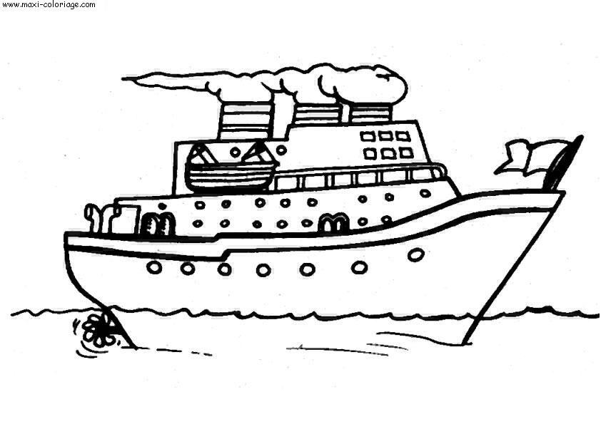 Dessin bateau - Maxi coloriage ...