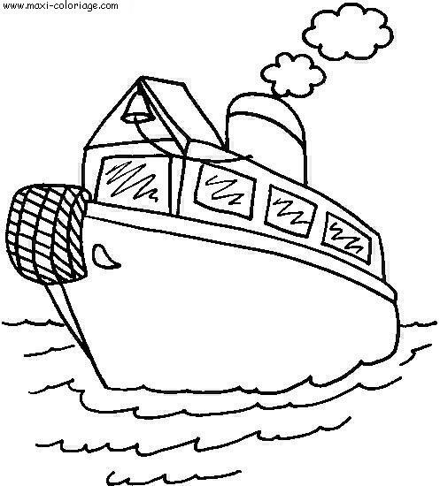 Coloriage bateau dessin par nounoudunord pictures to pin - Maxi coloriage ...