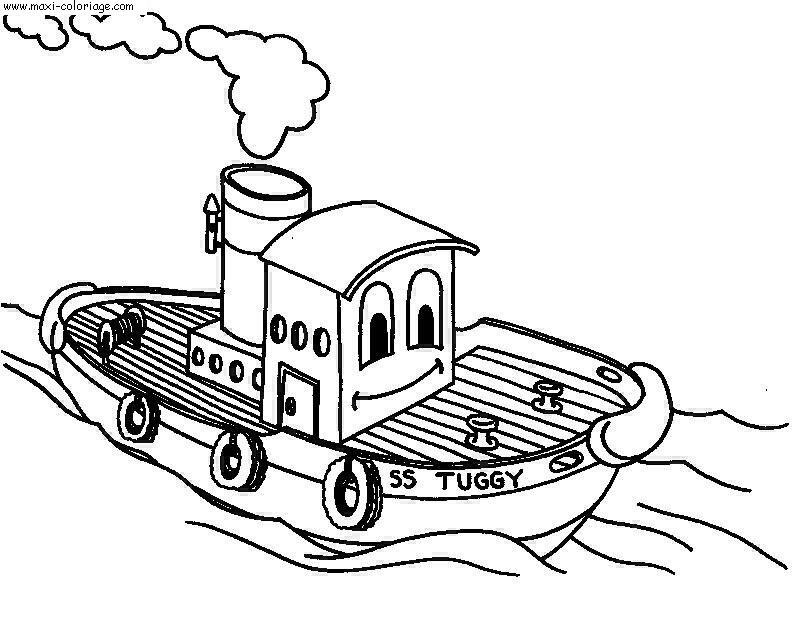 Coloriage bateaux dessin bateaux bateaux coloriage n 5197 - Maxi coloriage ...