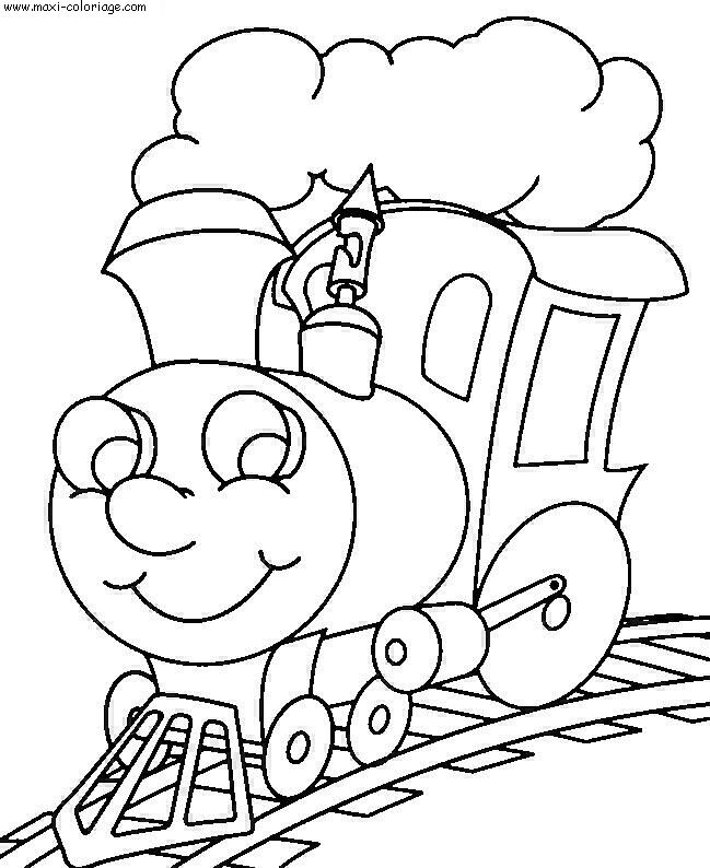 coloriage Trains