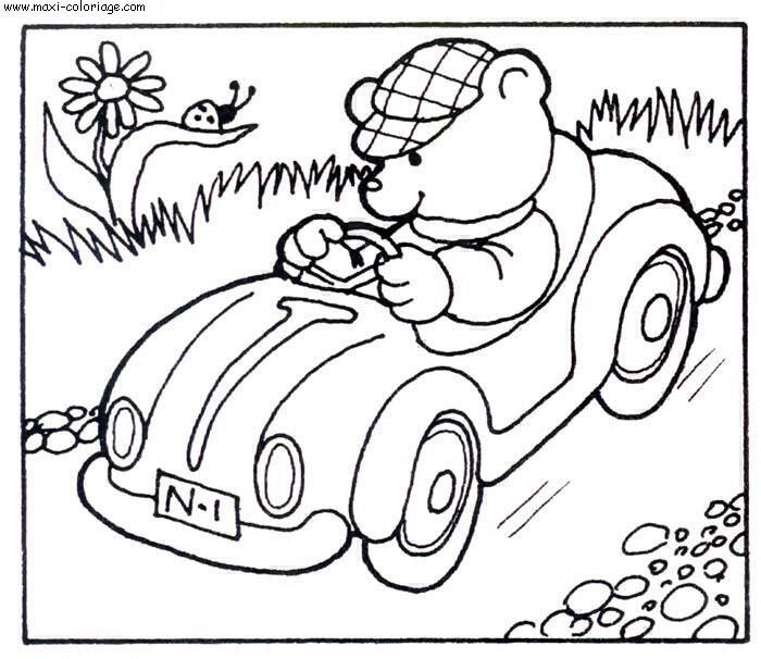 Coloriages voitures - Maxi coloriage ...