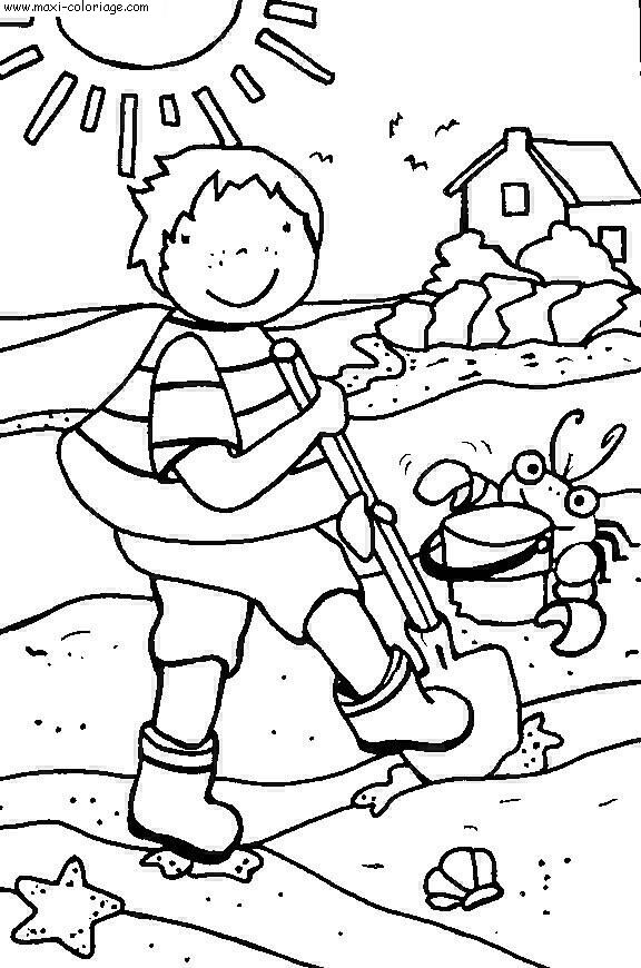 Coloriage vacances dessin vacances vacances coloriage n 5699 - Maxi coloriage ...