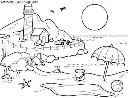 Coloriage vacances dessin vacances vacances coloriage n 5700 - Maxi coloriage ...