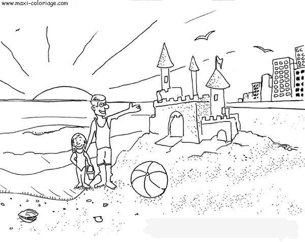 Coloriage vacances dessin vacances vacances coloriage n 5704 - Maxi coloriage ...